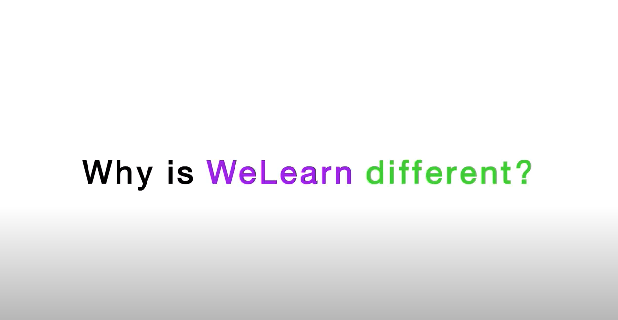 WeLearn is different
